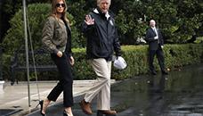 Сите зјапале во ногата на Меланија Трамп