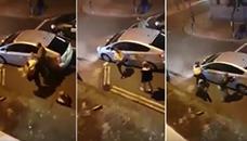 Две девојки напаѓаат таксист