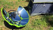 SolSource Sport скара пече месо од сончева енергија